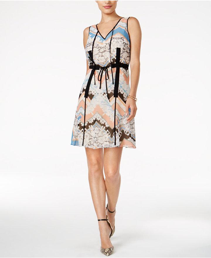 Guess Hartley Printed Drawstring Dress