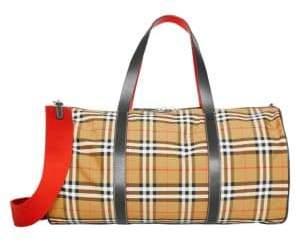 a27ec28381ed ... Burberry Large Kennedy Vintage Check Duffel Bag