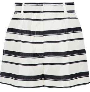 Dolce & Gabbana Striped Silk-Satin Twill Shorts