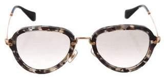 Miu Miu Tortoiseshell Acetate Sunglasses