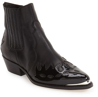 Topshop Women's Topshop 'Arson' Western Ankle Boots