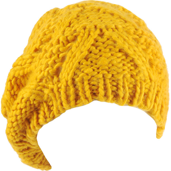 Thick Cable Sweater Beanie
