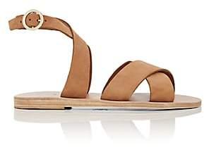 KYMA Women's Patmos Suede Crisscross-Strap Sandals - Lt. brown
