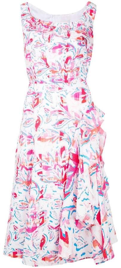 Peter Pilotto leaf printed midi dress