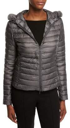 Moncler Sorbus Fur-Hood Puffer Jacket