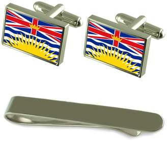 Columbia Select Gifts British Flag Cufflinks Tie Clip Engraved Gift Set