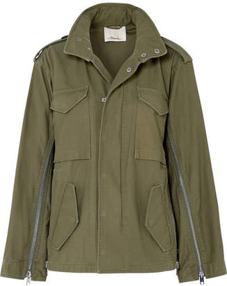 3.1 Phillip Lim Hooded Cotton-canvas Jacket - Army green