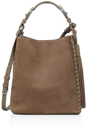 AllSaints Kepi Nubuck Leather Shoulder Bag