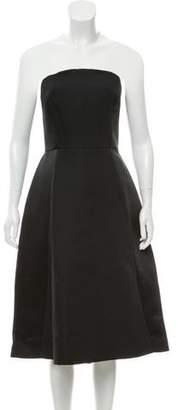 Halston Satin Strapless Evening Dress w/ Tags