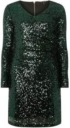 Dorothy Perkins Womens **Vero Moda Green Sequin Shift Dress