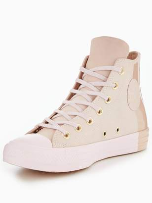 Converse Chuck Taylor All Star Blocked Nubuck Hi-Tops - Pink