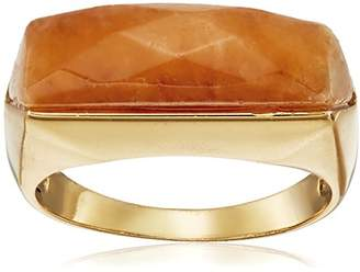 Barse Bronze and Lapis Slice Ring