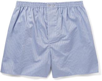 Zimmerli Striped Mercerised Cotton Boxer Shorts $75 thestylecure.com