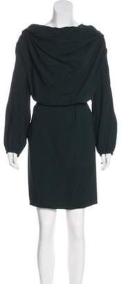 Lanvin Belted Midi Dress