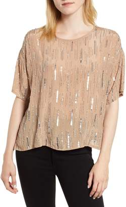 Velvet by Graham & Spencer Rain Drop Sequin Top