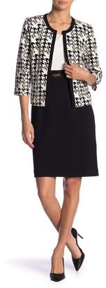 Sandra Darren Houndstooth Patterned Jacket & Dress 2-Piece Set