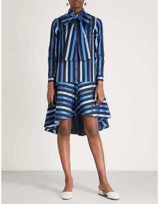 Osman Amelia striped cotton midi dress