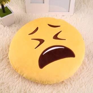 readywellgo Emoticon Pillow,Soft Cute Emoticon Pretty Yellow Round Cushion Pillow Stuffed Plush Toy