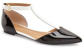 Women's Calvin Klein 'Ghita' T-Strap Flat $98.95 thestylecure.com