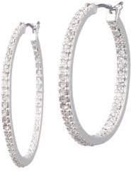 Lauren Ralph Lauren Crystal Hoop Earrings