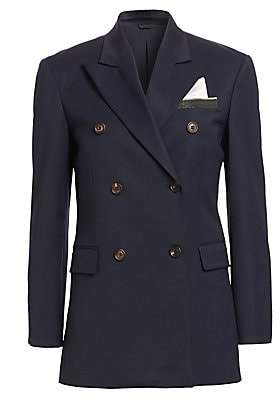 Brunello Cucinelli Women's Double-Breasted Suit Jacket