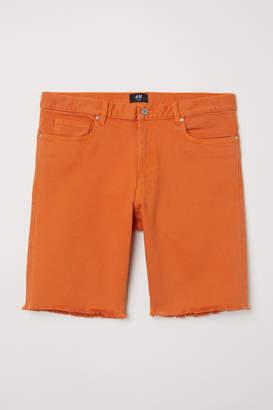 H&M Slim Denim Shorts - Orange