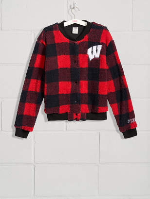 PINK University of Wisconsin Sherpa Letter Jacket