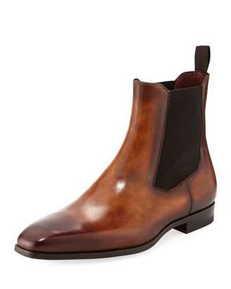 Magnanni Men's Calfskin Leather Chelsea Boot