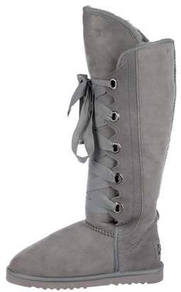 Australia Luxe Collective Suede Shearling-Trimmed Boots