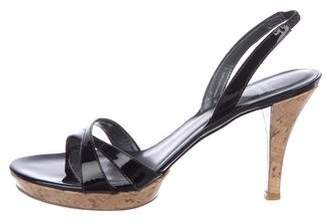 Stuart Weitzman Patent Slingback Sandals