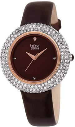 Burgi Rose Gold Tone Dress Quartz Watch With Leather Strap [BUR199BR]