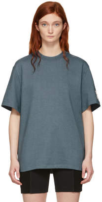 Alexander Wang Grey Oversized Wash and Go Puff Logo T-Shirt
