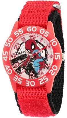 Marvel Marvel's Super Hero Adventure Spider-Man Toddler Boys' Red Plastic Time Teacher Watch