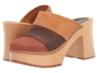 Swedish Hasbeens Color Combo Slip-In Women's Clog Shoes