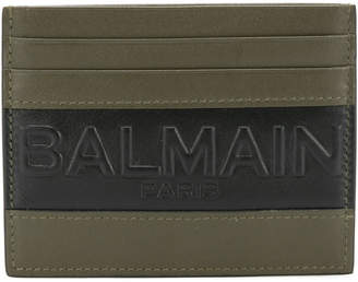 Balmain striped logo cardholder