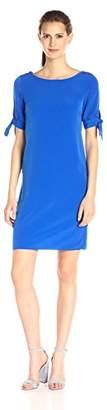 Donna Ricco Women's Elbow-Sleeve Crepe Shift Dress