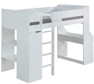 ACME Furniture ACME Ragna Twin Loft Bed with Desk and Wardrobe in White