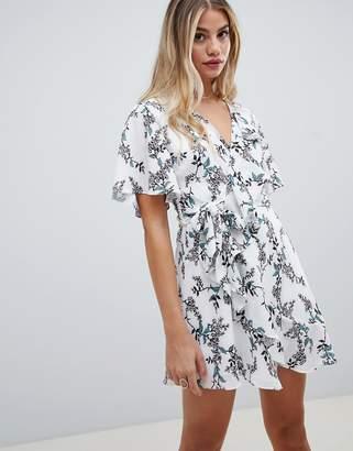 Style Stalker Stylestalker Kaylene Floral Print Belted Wrap Dress