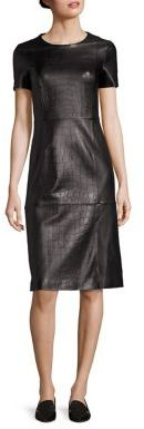 BOSS Syzilia Croc-Embossed Leather Dress $1,295 thestylecure.com