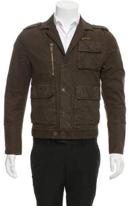 DSQUARED2 Distressed Button-Up Jacket