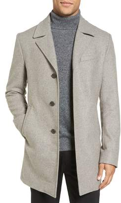 Michael Kors Slim Fit Wool Blend Topcoat