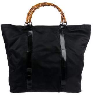 Gucci Vintage Bamboo Top Handle Tote