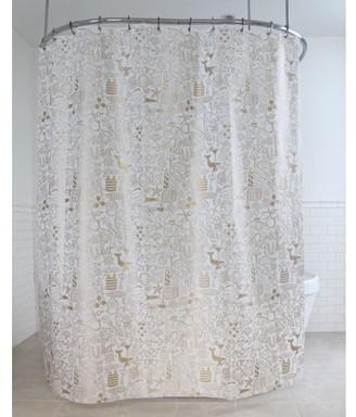 "Splash Home High Quality Ahoy PEVA Shower Curtain, 72"" x 70"", Gold"