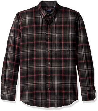 Izod Men's Flannel Long Sleeve Shirt
