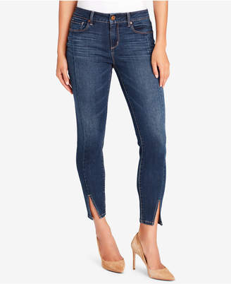 Vintage America Petite Wonderland Slit-Hem Jeans
