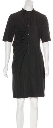 Nellie Partow Ruched Knee-Length Dress
