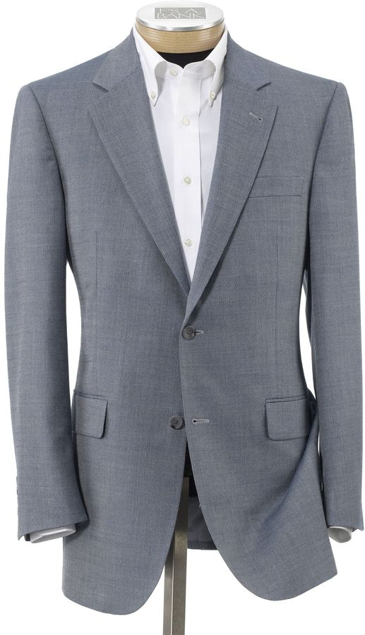 Jos. A. Bank Signature Tailored Fit 2-Button Textured Sportcoat-Sizes 44 X-Long-52 Long
