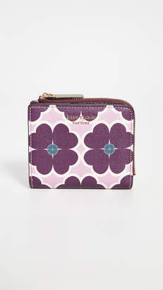 Kate Spade Sylvia Graphic Clover Small Bifold Wallet