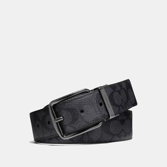 COACH Coach Wide Harness Cut-to-size Reversible Signature Belt $175 thestylecure.com