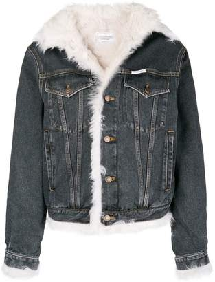 Couture Forte Dei Marmi shearling-lined denim jacket